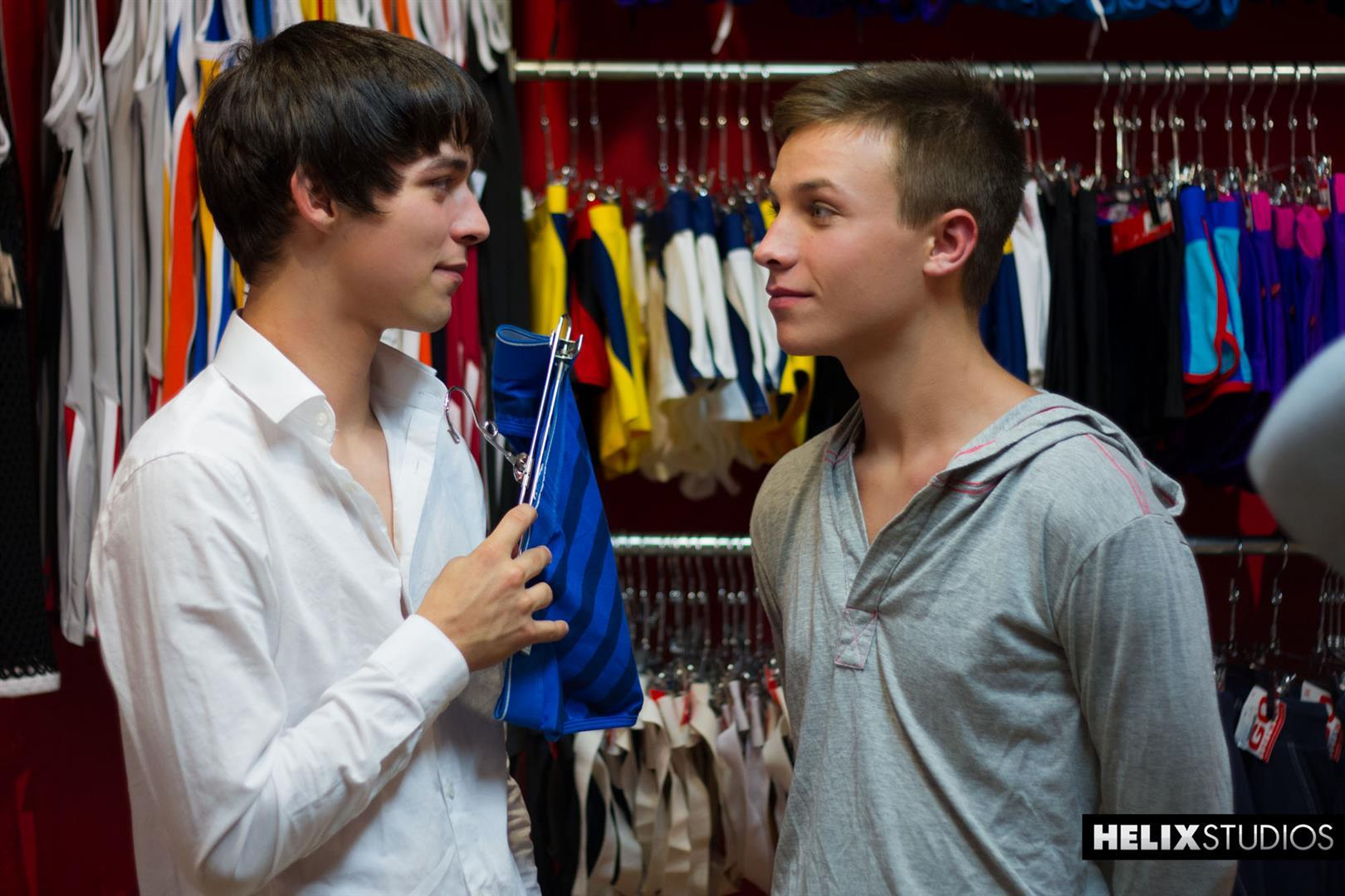Helix-Studios-Jacob-Dixon-and-Matthew-Keading-Big-Cock-Twinks-Barebacking-Amateur-Gay-Porn-01 Two Amateur Twinks Barebacking In A Store Fitting Room
