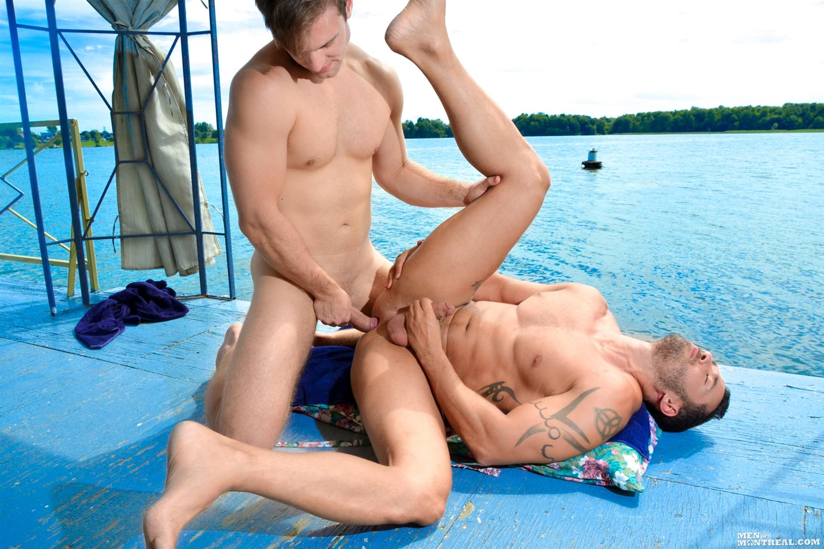 Men-of-Montreal-Gabriel-Clark-and-Alexy-Tyler-Muscle-Studs-Fucking-Amateur-Gay-Porn-14 Big Cock Amateur Muscle Studs Fucking Along The River Banks