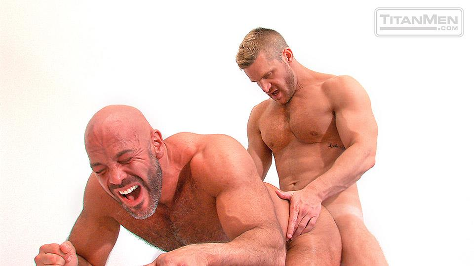TitanMen Pounded Jesse Jackman and Landon Conrad Hairy Muscle Daddy Gets Fucked In The Ass Amateur Gay Porn 14 Blue Collar Hairy Muscle Daddy Opens Up His Ass For His Co Worker
