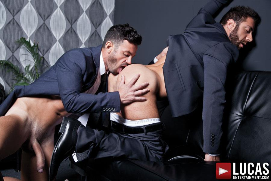 Lucas-Entertainment-Adriano-Carrasco-and-Valentino-Medici-Huge-Uncut-Cocks-Men-In-Suits-Fucking-Amateur-Gay-Porn-11 Hunks In Business Suits With Big Uncut Cocks Fucking Hard