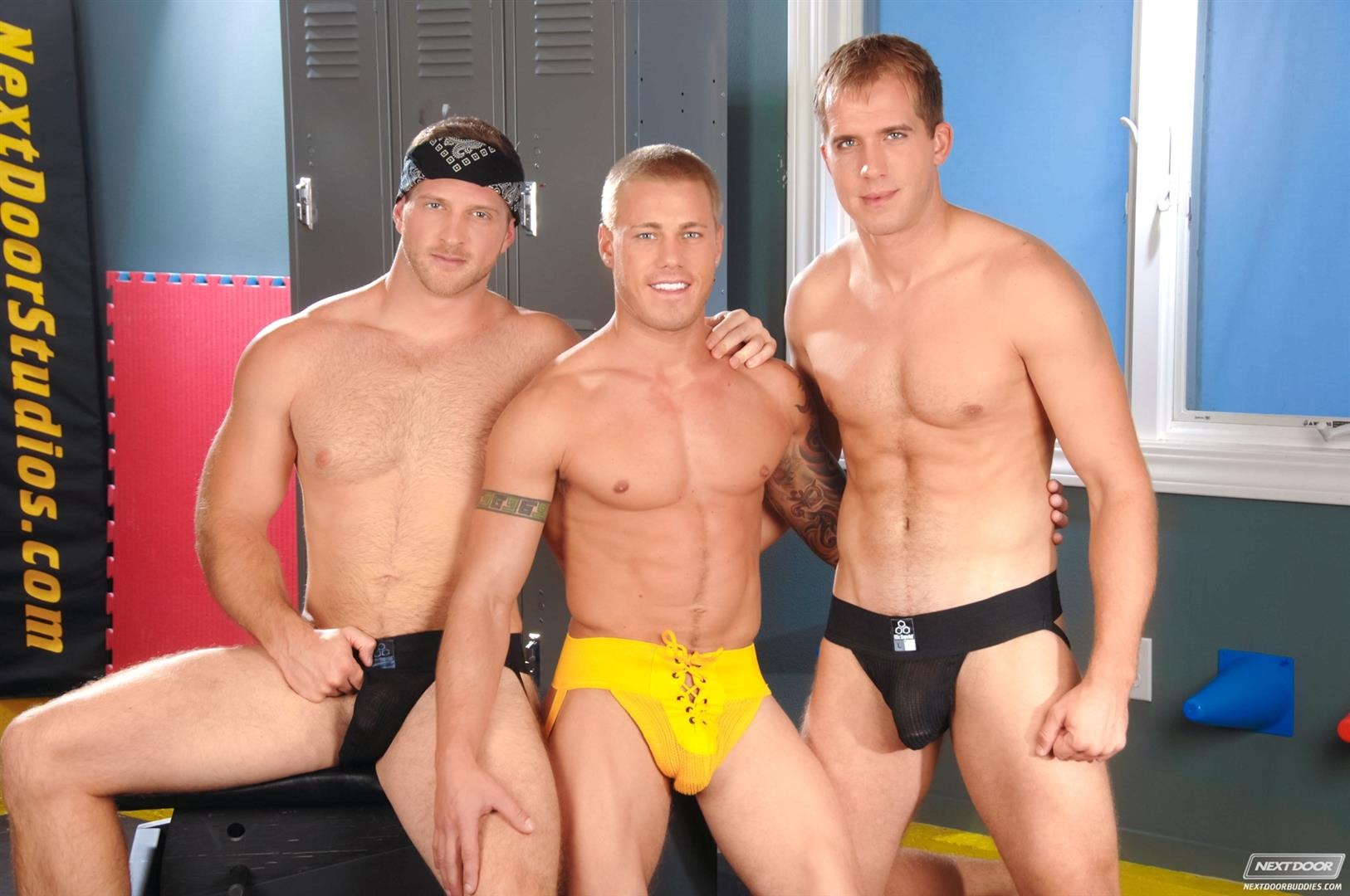 Next-Door-Buddies-Brandon-Lewis-Paul-Wagner-Brody-Wilder-Hung-Jocks-Fucking-In-The-Locker-Room-Amateur-Gay-Porn-07 Muscle Jocks Tag Teaming A Hot Muscle Ass In The Gym Locker Room