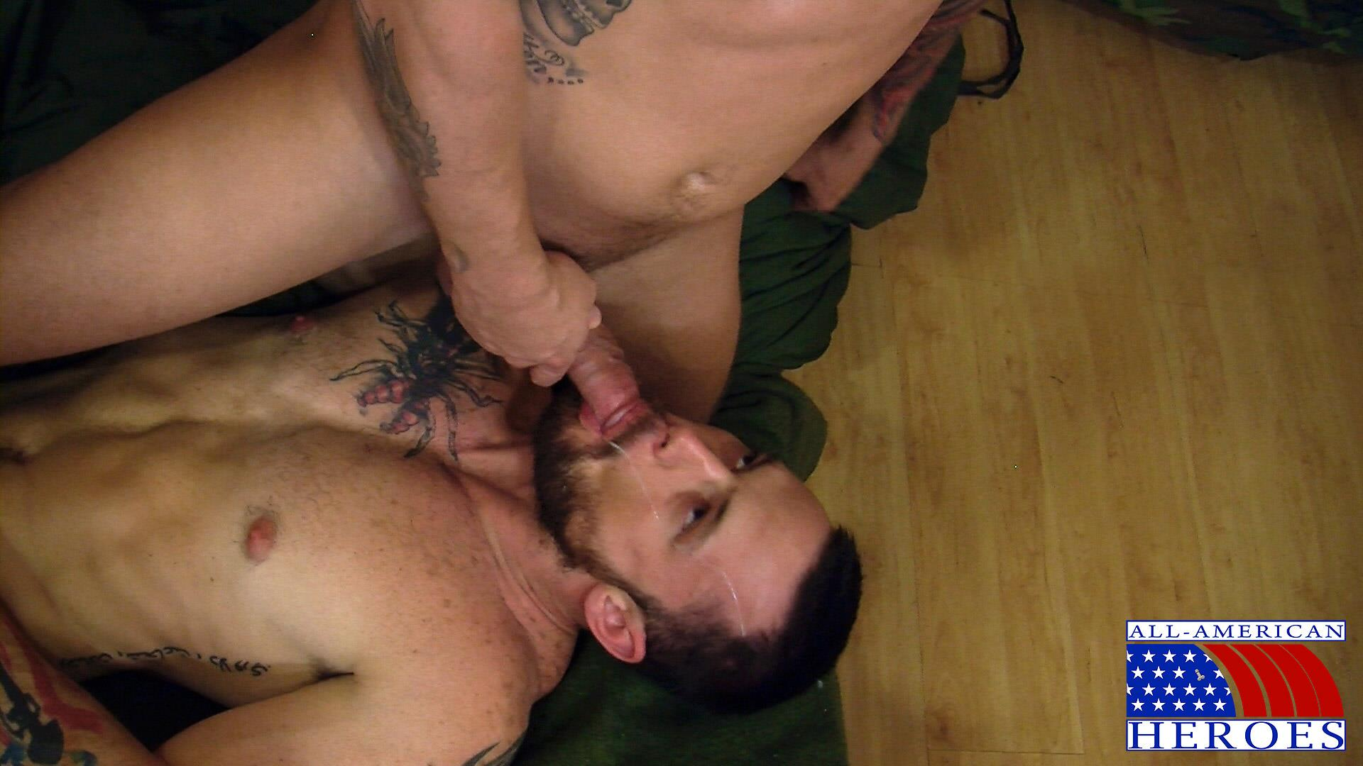 All-American-Heroes-PRIVATE-TYLER-FUCKS-SERGEANT-MILES-Army-Military-Amateur-Gay-Porn-15 Hung Amateur US Army Private Barebacking an Army Sergeant