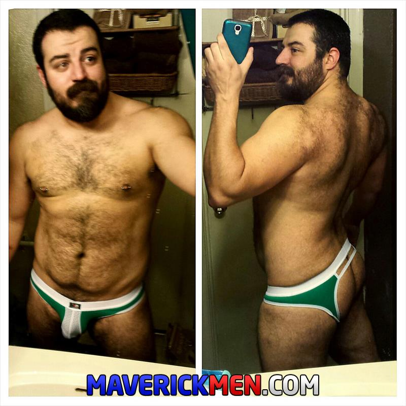 Maverick-Men-Grumpy-Hairy-Bear-Gets-Fucked-By-Two-Big-Daddy-Cocks-Amateur-Gay-Porn-5 The Maverick Men Bareback Tag Team A Hairy Bear Ass