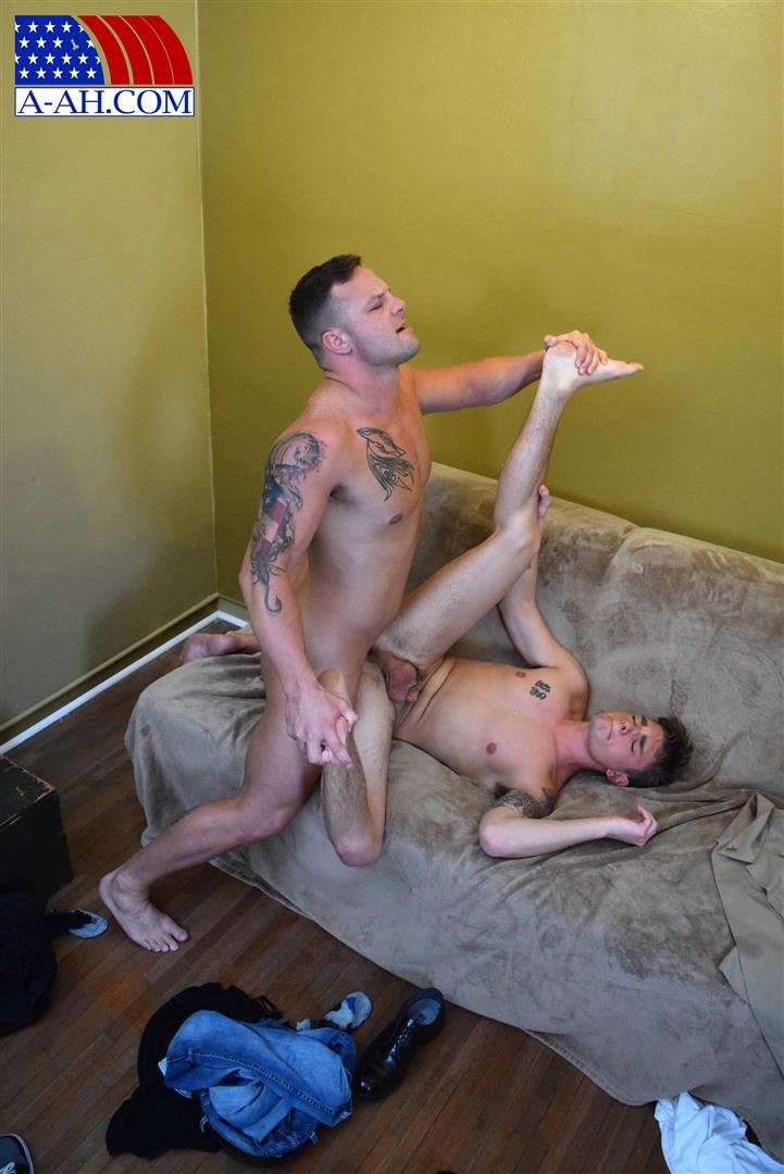 All-American-Heroes-Naked-Navy-Guy-Barebacking-a-Muscle-Twink-Amateur-Gay-Porn-13 Muscular Navy Corpsman Barebacking His Younger Workout Partner
