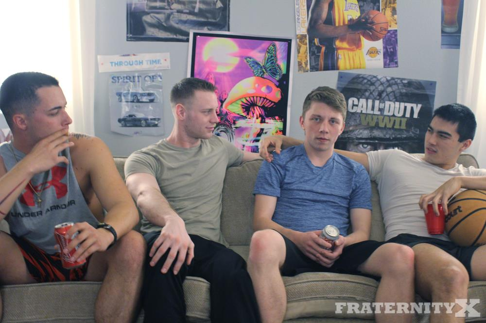 Fraternity-X-Naked-Frat-Guys-Bareback-Gang-Bang-Sex-Video-19 Visitor To The Fraternity House Gets Several Big Raw Dicks Up The Ass