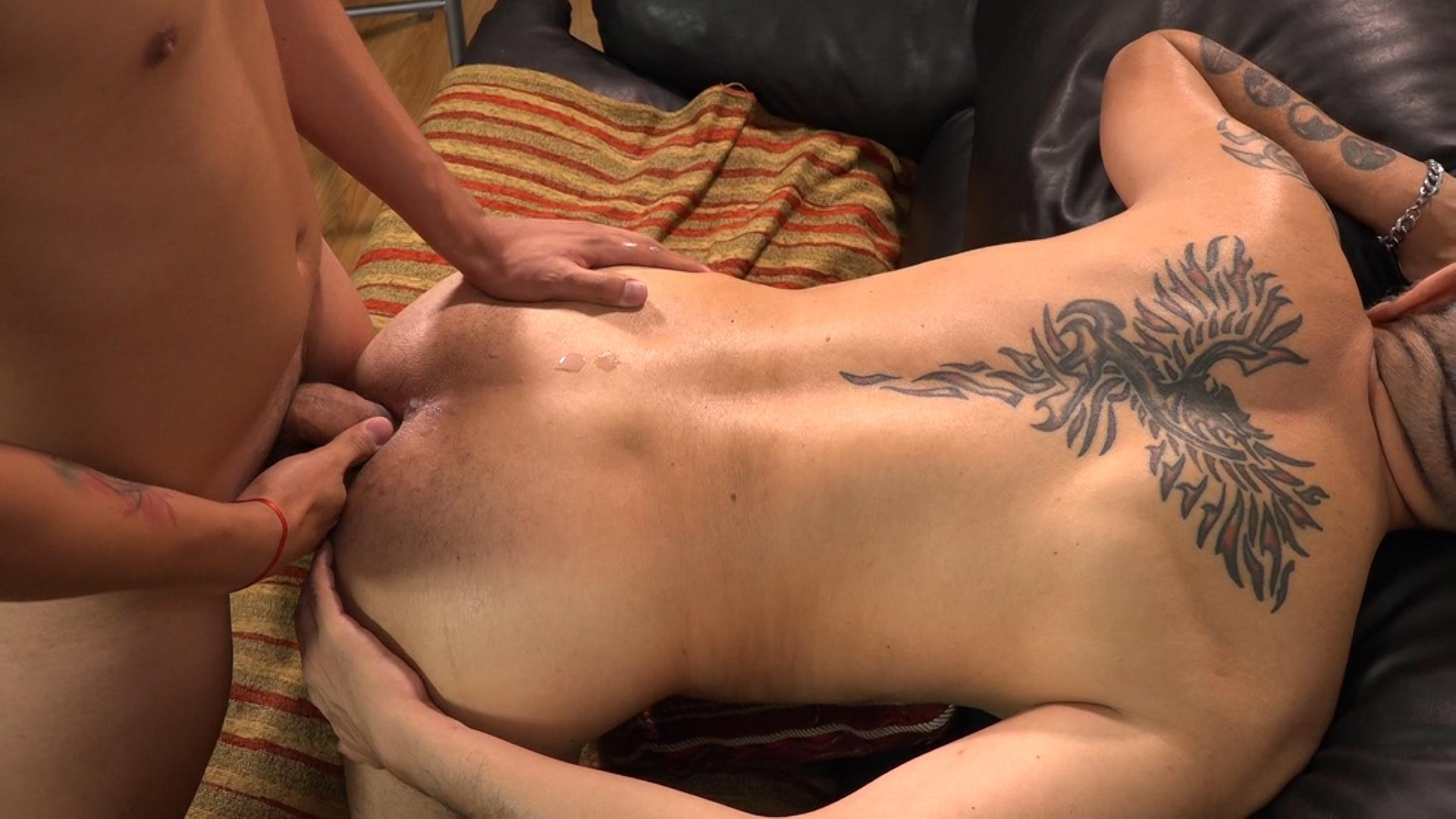Bareback-Me-Daddy-Cedric-and-Migue-Young-Guy-Barebacks-Daddy-25 Daddy Seduces Young Man And Takes A Bareback Cock Up The Ass